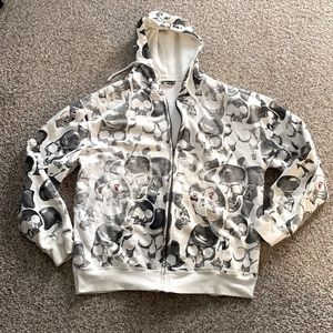 Famous Stars and Straps all over skull hoodie, XXL